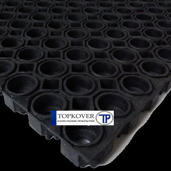 Грязезащитные покрытия ринго-мат 500x1000x 20 мм на основе ячеистой резины.