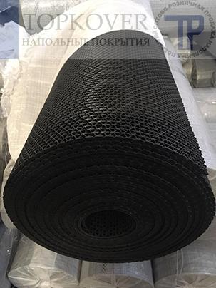 Износостойкое, прочное, монолитное напольное покрытие зиг-заг для влажных зон душевых и бассейна.
