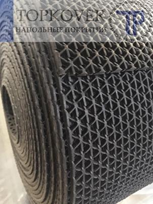 Рулонное ячеистое, монолитное ПВХ покрытие для бассейна, размер 0,9х10м х 5мм, цвет черный